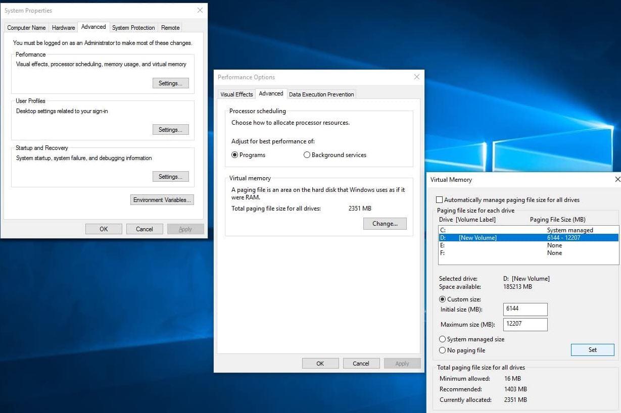 Customize-Virtual-memory-windows-10