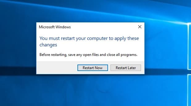 Restart-to-apply-changes