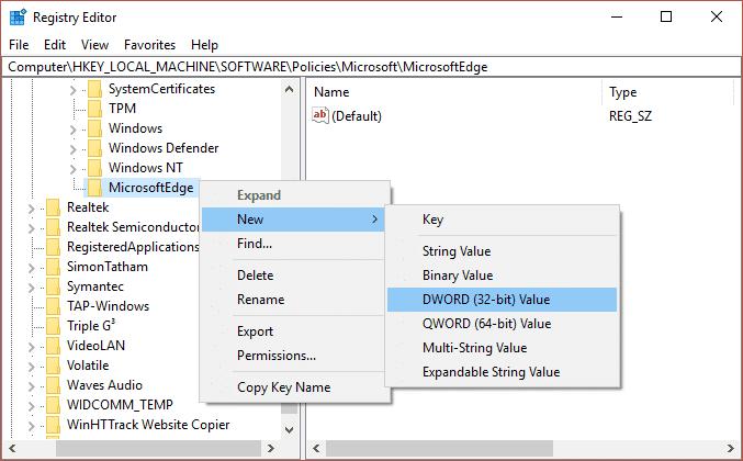 registry tweak to disable addons